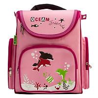 Cặp Học Sinh Chống Gù Ocean Friends B.BAG B-12-017 (28.8 x 36.5 m) - Hồng Nhạt