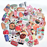 Bộ 50 Sticker Food Chủ Đề Món Ăn Uống (2020) Hình Dán Chống Nước Decal Chất Lượng Cao Trang Trí Va Li Du Lịch, Xe Đạp, Xe Máy, Laptop, Nón Bảo Hiểm, Máy Tính Học Sinh, Tủ Quần Áo, Nắp Lưng Điện Thoại