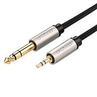 Cáp âm thanh 3.5mm sang 6.5mm cao cấp 2M màu Đen  Ugreen 127OL40804AV Hàng chính hãng