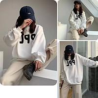 Áo hoodie nữ, áo khoác nữ from rộng màu trắng phong cách ulzzang hàn quốc đủ size S M L A-08