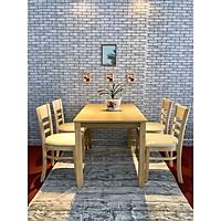 bộ bàn cabin 4 ghế màu tự nhiên