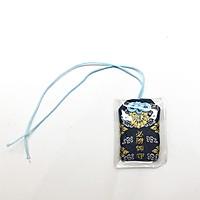 Túi gấm Omamori tất thắng xanh chữ vàng
