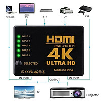 5-in-1 1080P to HDMI Splitter Switch Adapter Switcher 4K Ultra HD HDCP 3D HDR Set