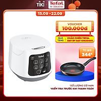 Nồi cơm điện Tefal Easy Rice Compact RK730168 - Dung tích 1L - Công suất 600W - Dễ dàng sử dụng với 1 nút nhấn - Công nghệ điện từ Fuzzy Heating - Hàng chính hãng