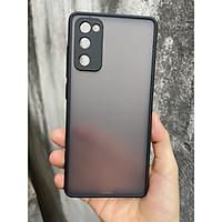 Ốp lưng nhám mờ cho Samsung Galaxy  S20 FE chống sốc, bảo vệ Camera (đen)