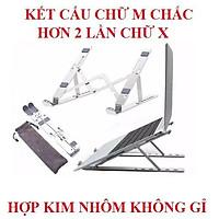 Giá đỡ laptop giá đỡ ipad NHÔM CHỮ M có thể gấp gọn chỉnh độ cao để laptop ipad macbook surface bàn kê lap