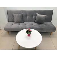 Bộ sofa bed giường phòng khách xám nhung PHKH-15