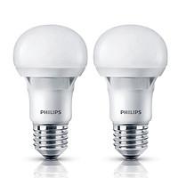 Combo 2 Bóng Đèn Philips Ecobright Ledbulb 5W 3000K E27 A60 2C-929001259707 - Ánh Sáng Vàng