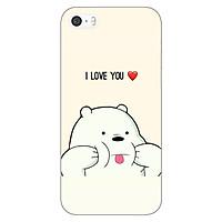 Ốp lưng dẻo cho Apple iPhone 5 / 5s _Ice Bear