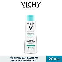 Nước Tẩy Trang Vichy Mineral Micellar Water Pureté Thermale Cho Da Hỗn Hợp Và Da Bóng Dầu 200ml