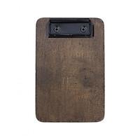 Bìa thanh toán gỗ Urimenu Nâu sẫm - có kẹp