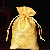 Combo 5 Túi gấm chử hỉ màu vàng Thượng Hải phong thủy TÀI LỘC VÀ MAY MẮN
