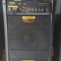 loa kéo koda 1208 3 tấc gỗ kèm 2 mic -hàng chính hãng
