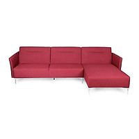 Sofa Vải Chữ L Góc Trái Juno Brett 290 x 160 x 89 cm (Đỏ)
