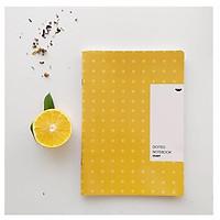 Combo 3 Vở Crabit Dotted Notebook - Vở Kẻ Chấm Bi (Giấy Ruột Dot) - Màu vàng (120 Trang - 183x260mm)