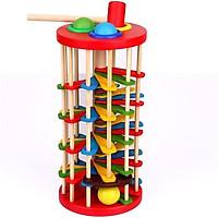 Đồ chơi gỗ Đập bóng lốc xoáy đa sắc màu