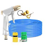 Bộ dây vòi xịt nước rửa xe,tưới cây đa năng,tăng áp 3 lần,loại 3m, 5m 206701đầu đồng,cút,nối nhựa vàng+ tặng móc khoá