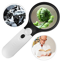 3 LED Light 45X Handheld Magnifier Reading Magnifying Glass Lens Jewelry Loupe M