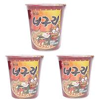 Combo 3 Mì Ly Ăn Liền Neoguri Cay Nongshim Hàn Quốc ( 62 gam / 1 ly)