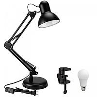 Đèn bàn học tập, làm việc, có chân kẹp bàn kiểu dáng Pixar + Tặng 1 bóng LED 7W vàng