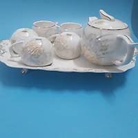 Bộ ấm chén uống trà Mẫu Đơn hoa