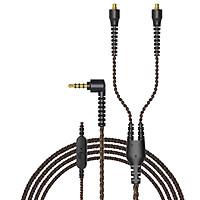 Dây tín hiệu chống nhiễu, module gắn socket MMCX to 3.5mm adapter hiệu Plextone chuyên dùng cho DX6 có Mic, Jack chân cắm chữ L tương thích với các loại tai nghe kết nối mmcx connectors 3.5, dây xoắn phân tầng hai đầu mạ vàng cao cấp. - Hàng Chính Hãng.