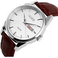 Đồng hồ nam dây da Skmei TCK01