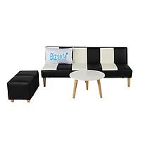 Trọn Bộ Sofa Phòng Khách _BizSofa Bed _MLF-280_(Sofa Giường + Bàn Tròn + 2 Ghế đôn)