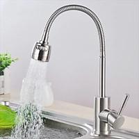 Vòi rửa bát cần gập 2 đường nước