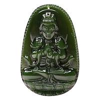 Mặt Dây Chuyền Như Lai Đại Nhật Ngọc Bích - Phật Bản Mệnh VIETGEMSTONES Cho Người Tuổi Mùi, Thân(Kèm Dây Đeo)