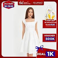 Đầm dáng xòe nữ thiết kế hai dây nhún ngực GUMAC DB525