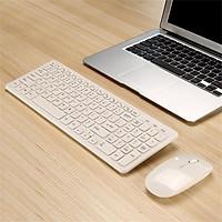 Wireless Keyboard and Mouse Set, 2.4G Slim Desktop Cordless Keyboard and Mouse Combo Whisper-quiet Keyboard Design