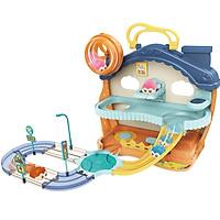 Bộ đồ chơi đường ray chuột hamster KAVY có nhạc chú chuột hamster di chuyển vui nhộn dễ thương