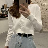 (Có sẵn)Áo len dệt kim áo len nữ dáng ngắn