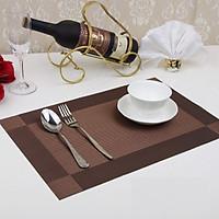 Bộ 4 tấm lót bàn ăn cao cấp, sang trọng (màu nâu)