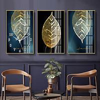 Tranh treo tường, tranh đồng hồ NT187 bộ 3 tấm ghép