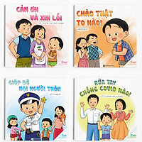 Combo Ehon Kỹ năng sống: Bon là Bé ngoan (4 cuốn)