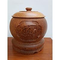 Vỏ đựng bình trà gỗ dừa Phúc lộc thọ