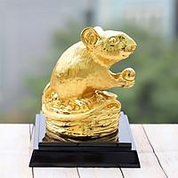 Tượng Chuột vàng sung túc - Linh vật tuổi Tý mạ vàng