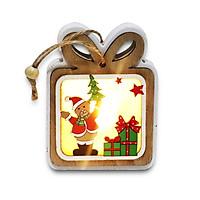 Móc Treo Trang Trí Giáng Sinh Viền Trắng Có Đèn Led Siêu Dễ Thương