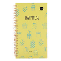 Sổ LX Twin Notebook Happiness Motto A5 120 Trang (11.8 x 21 cm)