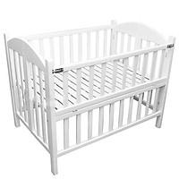 Giường cũi màu trắng tất cao cấp cho bé - 70x110x90