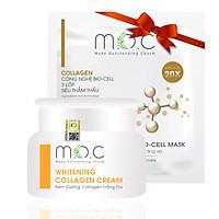 Kem Dưỡng Collagen Trắng Da M.O.C - Tặng 1 Miếng Mask Sinh Học Trắng Da Collagen M.O.C - Kem Dưỡng Chiết xuất Hoa Nghệ Tây (Saffron) chống oxy hóa, nuôi dưỡng tế bào da, chống lão hóa, ngăn ngừa sạm nám, không bết rích, thông thoáng lỗ chân lông, dùng được cho phụ nữ mang thai