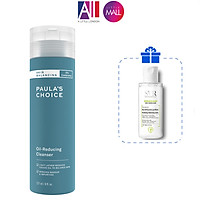 Sữa rửa mặt cho da dầu Paula's Choice skin balancing oil reducing cleanser TẶNG tẩy trang SVR (Nhập khẩu)