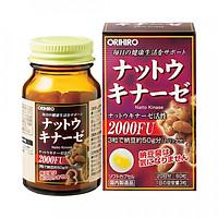 Thực phẩm chức năng: Viên uống hỗ trợ điều trị tai biến Orihiro Natto kinase 2000FU 60 viên nội địa Nhật Bản