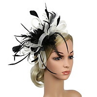 Mesh Bowknot Feather Headband Fascinator Wedding Royal Ascot