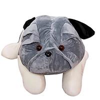 Gấu bông chó mặt xệ Pitbull đáng yêu size 80cm