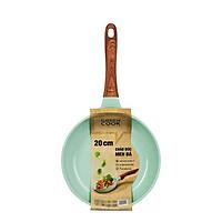 Chảo đúc 7 lớp chống dính đáy từ dùng trên mọi loại bếp Greencook GCP06-20 size 20cm, sâu 5.8cm, hàng y hình-Hàng chính hãng