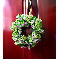 Vòng hoa trang trí, treo tường, treo cửa nhà.