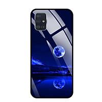 Ốp lưng kính cường lực cho Samsung Galaxy A51 - 03094 0269 MOON02 - Hàng Chính Hãng